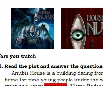 Movie Worksheet: House of Anubis