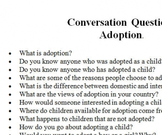 Adoption: Conversation Questions