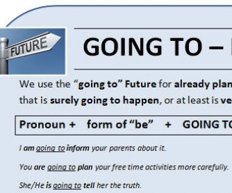 GOING TO: Future