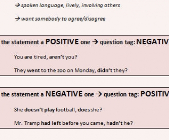 Question Tags Worksheet III