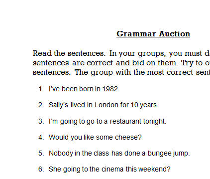 how to change any sentence to i grammer