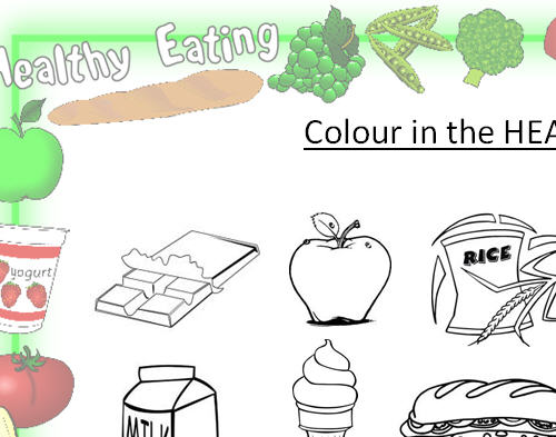 in the Healthy Foods – Healthy Eating Worksheets