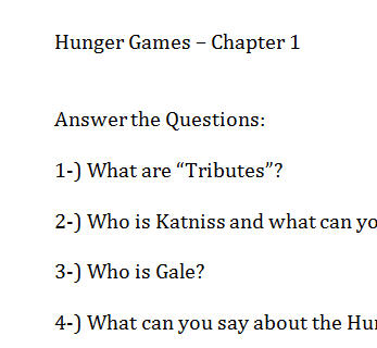 hunger games book 1 essay questions