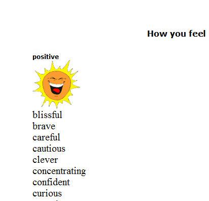 Moods Feelings