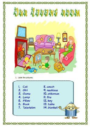 Living Room Worksheet