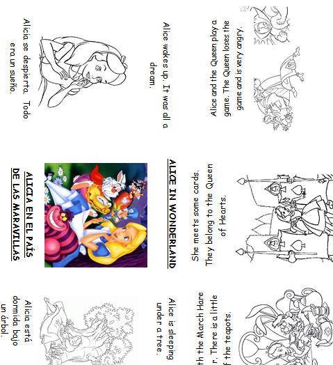 11 FREE ESL Alice in Wonderland worksheets