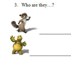 Movie Worksheet: Over The Hedge