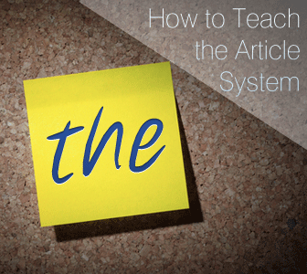 America is THE Free Country? Teaching the Article System