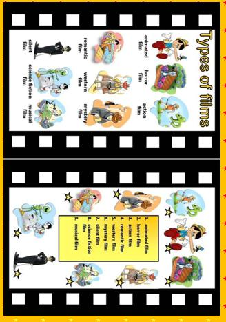 Types of Films Worksheet