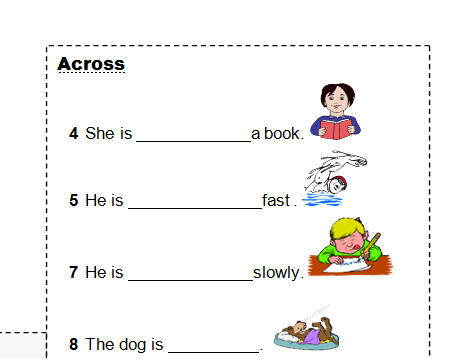 Present Continuous Crossword