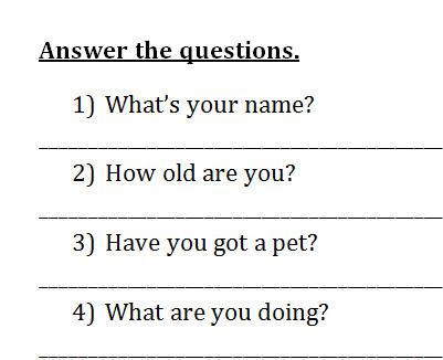 Elementary Revision Worksheet for Children