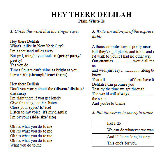 Modern Hey There Delilah Piano Chords Picture Collection - Basic ...