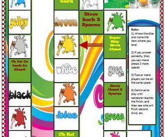 Colours Board Game