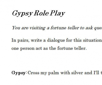 Gypsy Role Play
