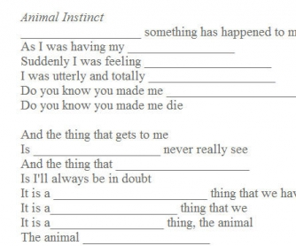 Song Worksheet: Animal Instinct