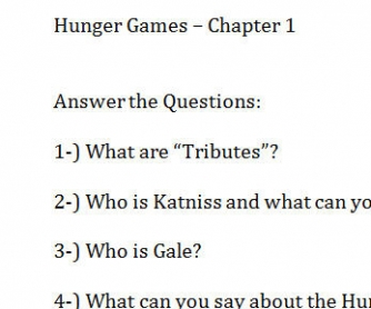 Hunger Games Activity Chapter 1