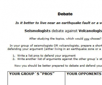 Debate: Seismologists vs. Volcanologists
