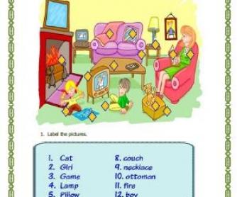 Our Living Room Worksheet