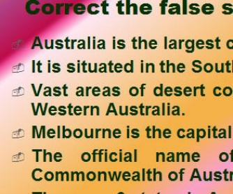 Australia. The Upside Down World
