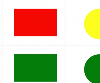 Colors and Shapes: Easy Memory Flashcards