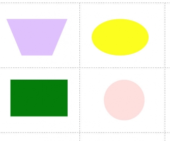 Colors and Shapes: Difficult Memory Flashcards