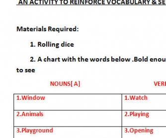 Reinforcing Vocabulary & Sentence Making