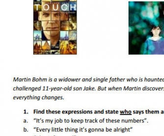 Movie Worksheet: TOUCH [TV Series]