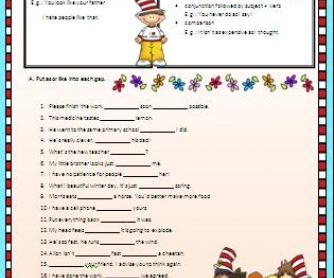 As vs Like: Worksheet II