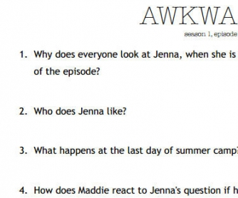 Movie Worksheet: Awkward s01e01