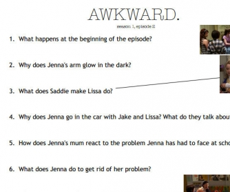 Movie Worksheet: Awkward s01e02