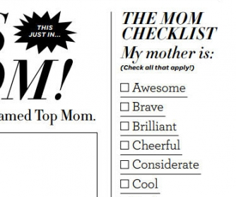 Mother's Day Newspaper Card