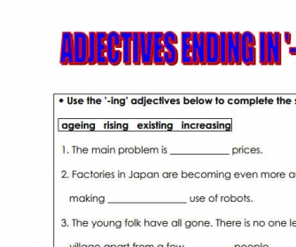 """-Ed"" Or ""-Ing"" Adjectives"