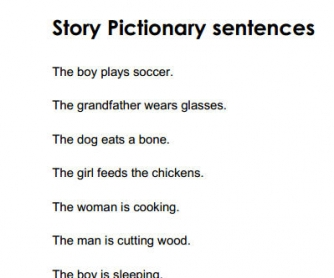 Pictionary Sentences
