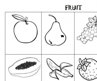 Fruit Vocabulary Worksheet