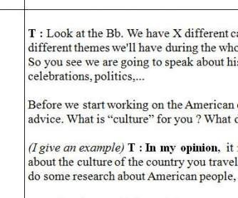 The USA And American Culture Lesson Plan