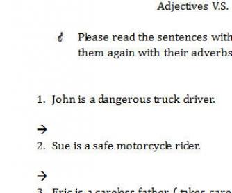 Adjectives vs Adverbs