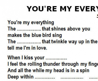 Song Worksheet: You're My Everything by Santa Esmeralda