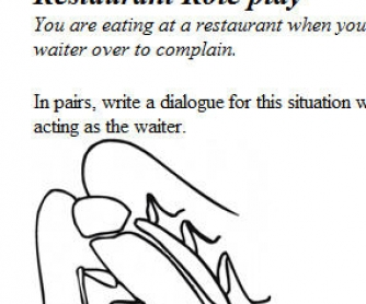 Restaurant Role Play