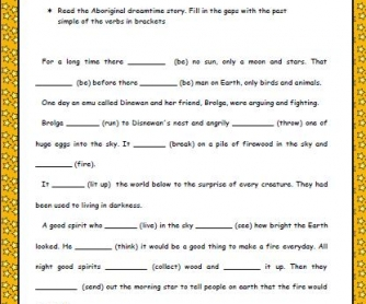 How The Sun Was Made: Past Simple Worksheet