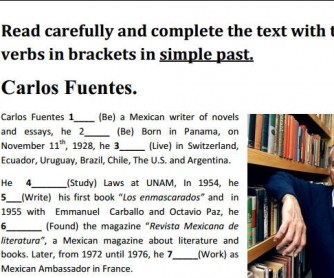 Carlos Fuentes: Short Biography