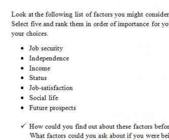 Factors You Take Into Account When Choosing A Job