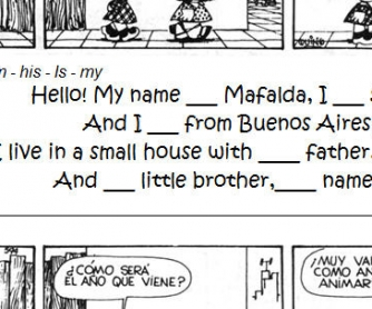 Mafalda's World: Personal Information Worksheet [for Argentinian users]