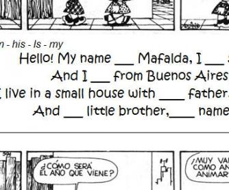 Mafalda's World: Personal Information Worksheet [for Argentinian users]