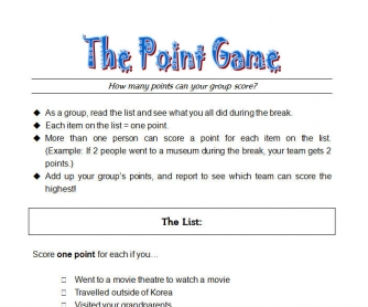 The Point Game