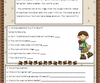 Camping Under the Stars Worksheet