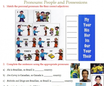 Pronouns: People and Possessions