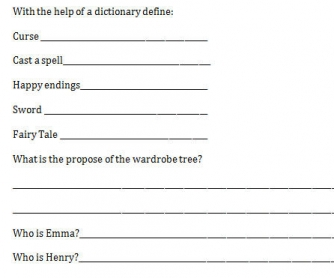 Movie Worksheet: Once Upon A Time