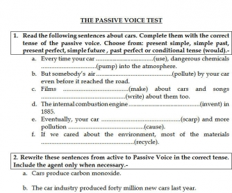 Test: The Passive Voice