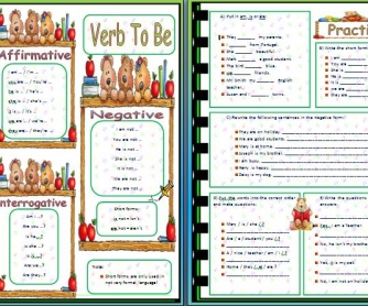 Verb To Be: Revision Worksheet