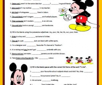 Personal Pronouns, Possessive Adjectives, Verb To Be